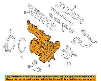 BMW OEM 14-15 i8-Turbocharger Turbo 11657625161