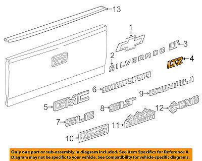 Chevrolet GM OEM Silverado 1500 Bed / Fender-Emblem Badge Nameplate 22980987