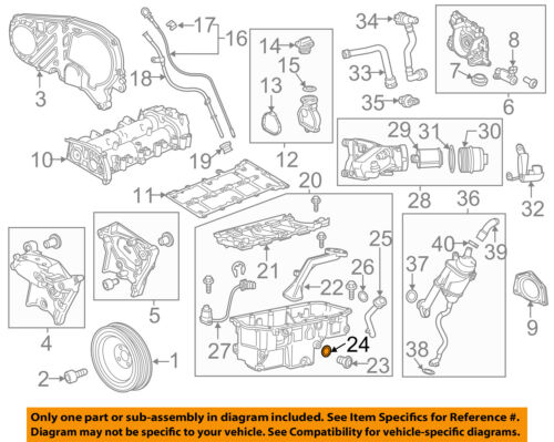 [SCHEMATICS_4FR]  Chevrolet GM OEM 14-15 Cruze Engine Parts-Drain Plug Seal 55196309 | eBay | Chevrolet Engine Parts Diagram |  | eBay