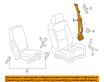 GM OEM Front Seat Belts-Belt & Retractor Right 19351663