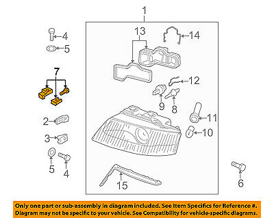 AUDI OEM 98-04 A6 Quattro Headlamp-Front Lamps-Repair Kit Left 4B0998121