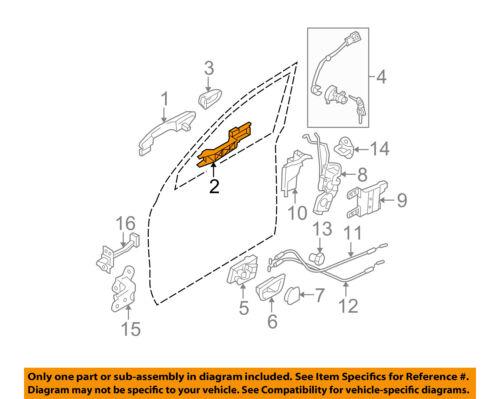 OEM NEW 2011-16 Kia Sportage Base Primed Door Outside Handle Assembly 826513W000