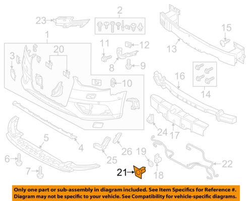 AUDI OEM 15-16 A3 Front Bumper Grille-Inner Bracket Left 8V5919267A3FZ