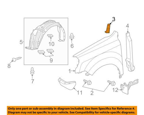 00-09 60262S2A000ZZ Genuine Honda S2000 Fender Stay Support Bracket Left OEM