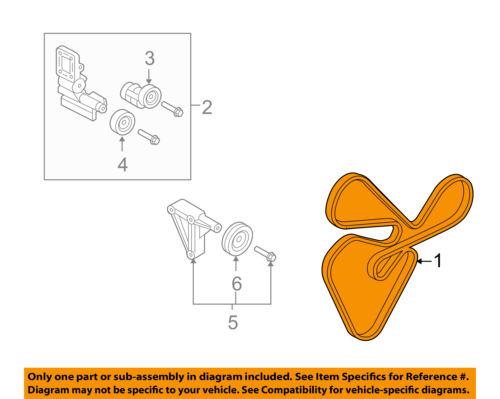 Kia Oem 10 13 Forte Serpentine Drive Fan Belt 2521225000 Ebay