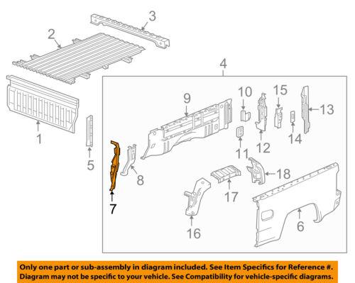 Gm OEM Pick Up Box Cama-Protetor de Direito 23343198