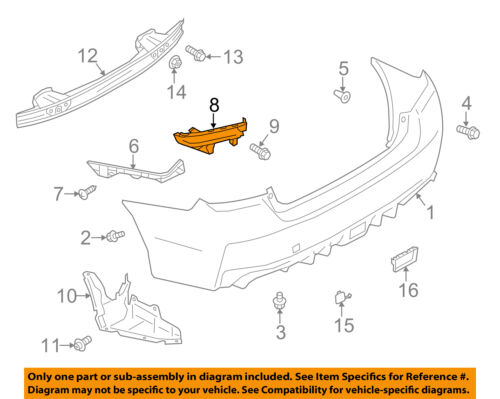 SUBARU OEM 15-16 WRX Front Bumper-Retainer Bracket Right 57707VA020
