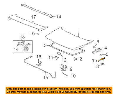 Acura HONDA OEM 91-92 NSX Trunk-Lift Support Strut Shock Arm 74872SL0305