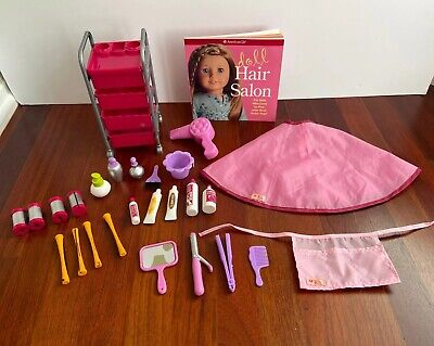 My American Girl Doll Hair Salon Style Book OG Accessories Complete Set MYAG LOT