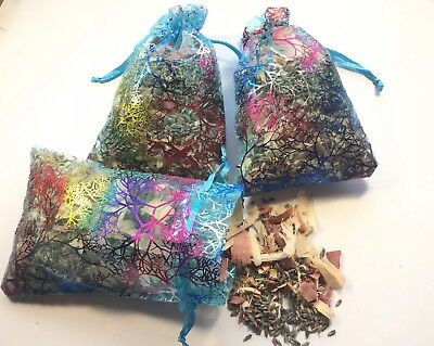 ORGANIC FRENCH LAVENDER & MIXED RED CEDAR SACHETS BAGS POTPOURRI LOT OF 3 for sale  Penn Run
