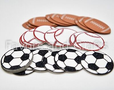 10 Soccer Football Baseball Sports Centerpiece Decoration Foam Favors Crafts DIY