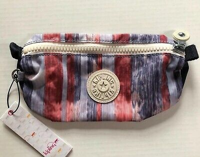 Kipling Freedom Pencil Case Cosmetic Pouch Stars And Stripes American Flag USA