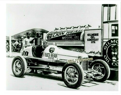 Reprint Photo LION HEAD GILMORE OIL SIGN RACE CAR TRUCK MOTORCYCLE vintage USA