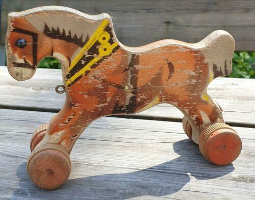Antique+Swedish+BRIO+Dala+Horse.+RARE%21%21