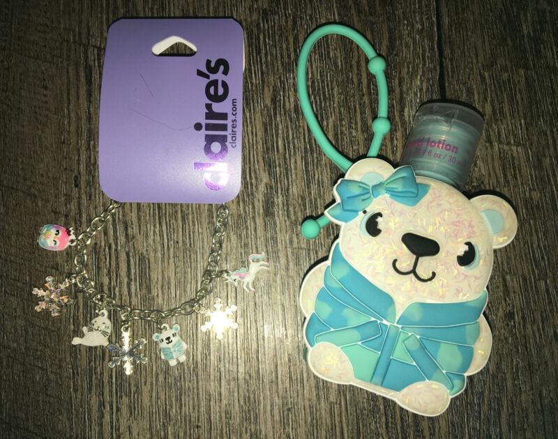 Claire's Unicorn Polar Bear Charm Bracelet Jewelry Lotion Backpack Clip Lot