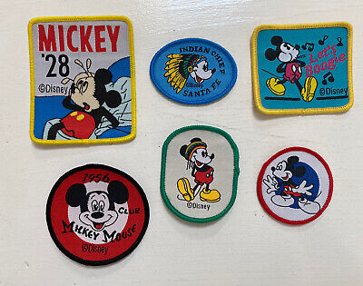 NEW! Walt Disney World Lot of 6 Mickey Mouse Vintage Sew on Cartoons Patches NEW