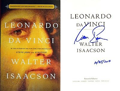 Walter Isaacson Signed   Dated Leonardo Da Vinci 1St 1St Photos  Not Tipped In