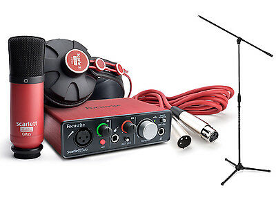 Focusrite Scarlett Solo Studio Pack Kit With Tripod Microphone Stand