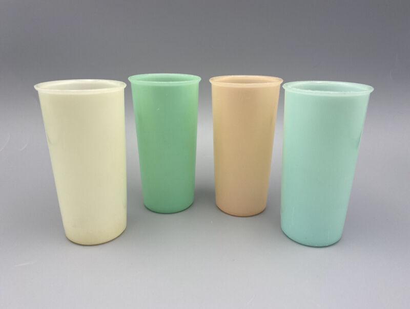 Vintage 70s 80s Tupperware 117 Pastel Tumblers (6 oz Juice Glasses Set of 4)