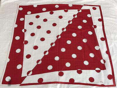 Vintage Scarf Styles -1920s to 1960s Vintage Square Scarf Casca For Magid 100% Cotton Red & White Polka Dot Japan $13.87 AT vintagedancer.com