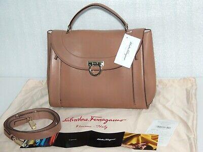 Salvatore Ferragamo MEDIUM MOKA CALF LEATHER Bag Shoulder Bag NEW WITH TAGS