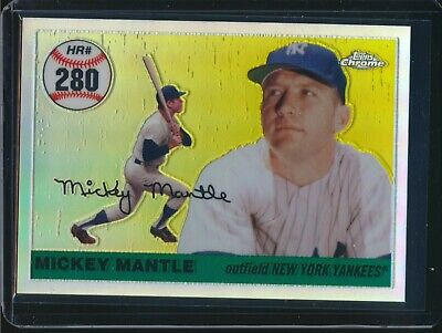 2007 Topps Chrome Mickey Mantle - 2007 Topps Chrome Mickey Mantle Home Run History Refractor MHR280 059/500
