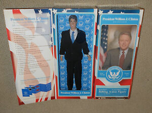 Bill Clinton Talking Toy Presidents MISB Sealed Box William Doll Figure