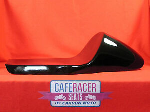 LARGE CAFE RACER SEAT NEW & UNUSED SUIT BMW ETC -IN BLACK