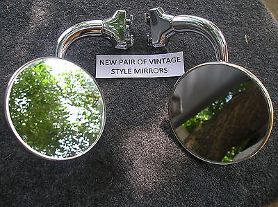 Right / Left Vintage Style 4 Inch Round Glass Peep Side View Mirrors 126