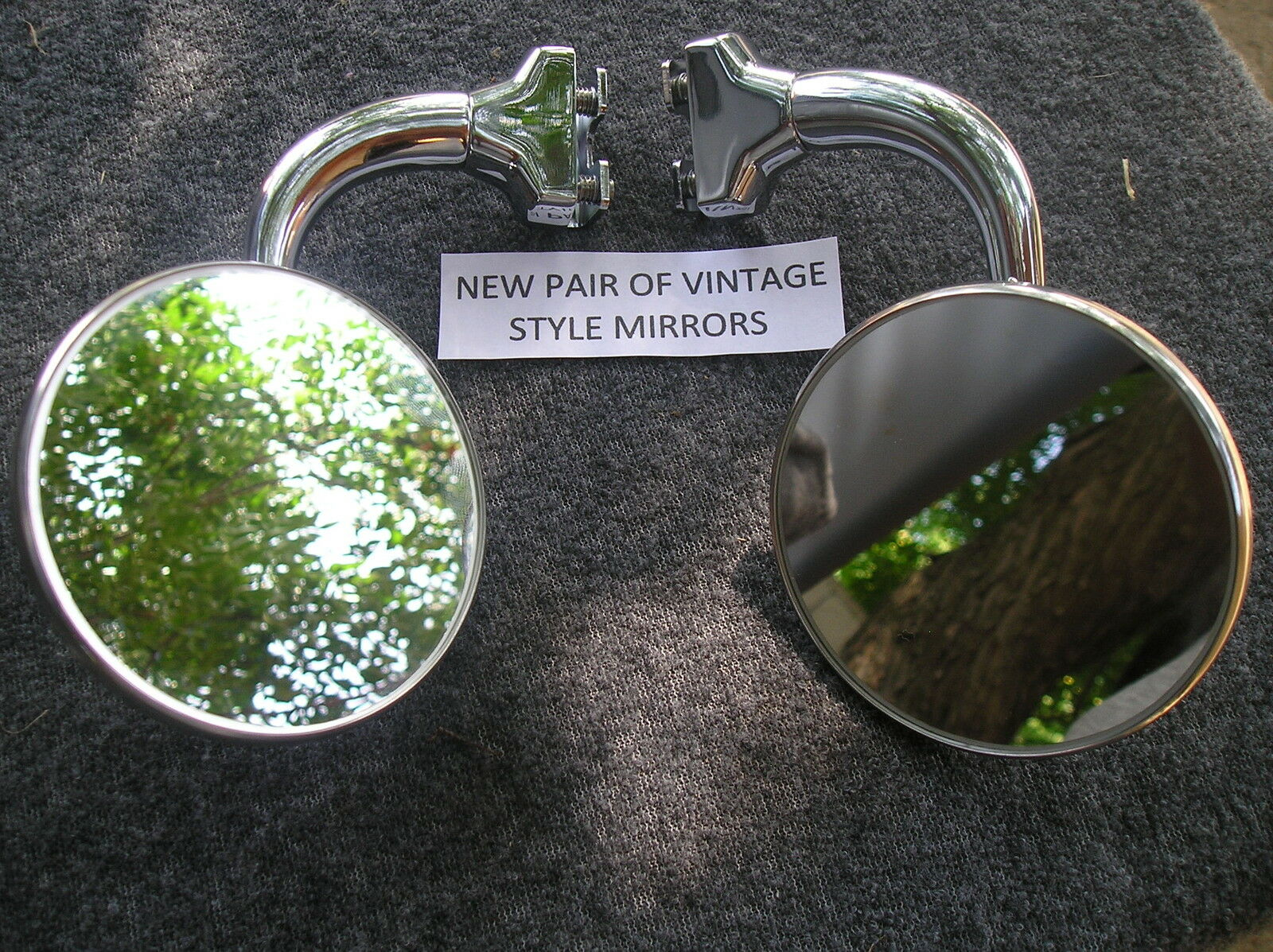 Right And Left Vintage Style 4 Inch Round Glass Peep Side View Mirrors 945