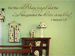 For this child i have prayed 1 samuel 1 27 custom nursery for Bible verses for kids rooms