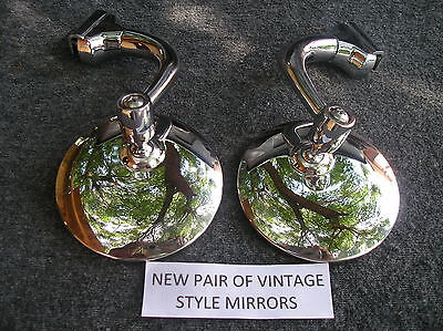 Pair Right / Left 3 Inch Round Glass Peep Side View Mirrors 126