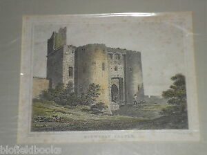 Kidwelly-Castle-Caermarthenshire-Wales-c1850-Original-Antiquarian-Engraving