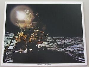 Vintage-NASA-8X10-Color-Photo-Apollo-14-On-The-Moon-L-K