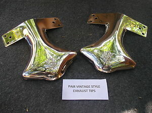 NEW-PAIR-OF-STAINLESS-STEEL-EXHAUST-V-8-TIPS-FOR-THE-FORD-CARS-AND-TRUCKS