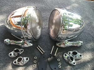 NEW-PAIR-OF-CHROME-VINTAGE-STYLE-DUMMY-SPOT-LIGHTS