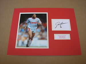 JOHN-BARNES-IN-LIVERPOOL-SHIRT-SIGNED-AUTOGRAPH-PHOTO-MOUNT-COA-ENGLAND