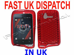 For Sony Ericsson Xperia Active ST17i Pattern Gel Case Protector Cover Red UK