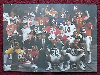 1986 Magazine Photo Page Brian Bosworth OKLAHOMA Football All American Team