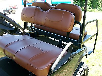 Club Car Ds '00 +, Rear Flip Seat And Custom Seat Cover Combo Pkg(front & Rear)