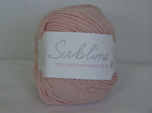 SUBLIME Baby Cashmere Merino Silk DK x 50 gms ~ K001 Choose Colour