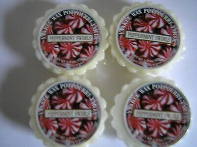 Yankee Candle Peppermint Swirls Tarts Melts Set Lot of 4 New Wrapped