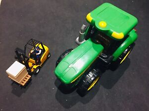 Tractor and Fork Lift Kids Toys - Like new