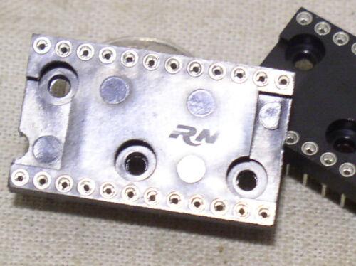 2 NEW ROBINSON NUGENT 24-PIN LOW PROFILE ROUND MACHINE TOOL PIN IC SOCKET USA