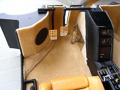 Lot 2 pieces Pocher 1//8 Ferrari Testarossa F40 Metal Shift gate