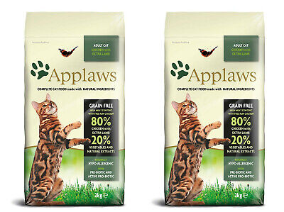 2 X Applaws Complete Natural Dry Cat Food 400g Adult Chicken