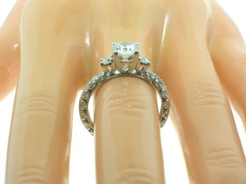 Tacori Platinum Ht2369p Mounting 0.44 Ctw Diamonds + Box-size 6.5us-retail $4870