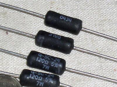 4 New Dale Vishay G-5c-24 Rwr84 Mil Military Wirewound Resistor 120 Ohm 7w Usa