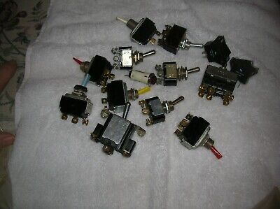 13 Micro Switch 2way 3way Toggle Switch115 V 12 Volt Used Vintage