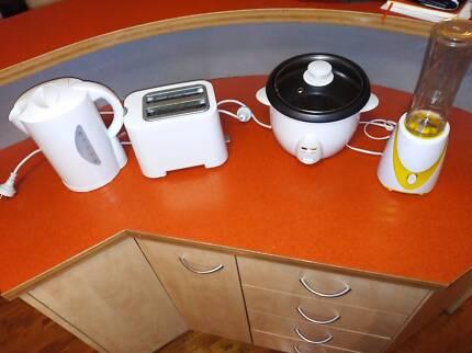 Kitchen Appliances (Rice Cooker, Kettle, Toaster, Cup Blender)